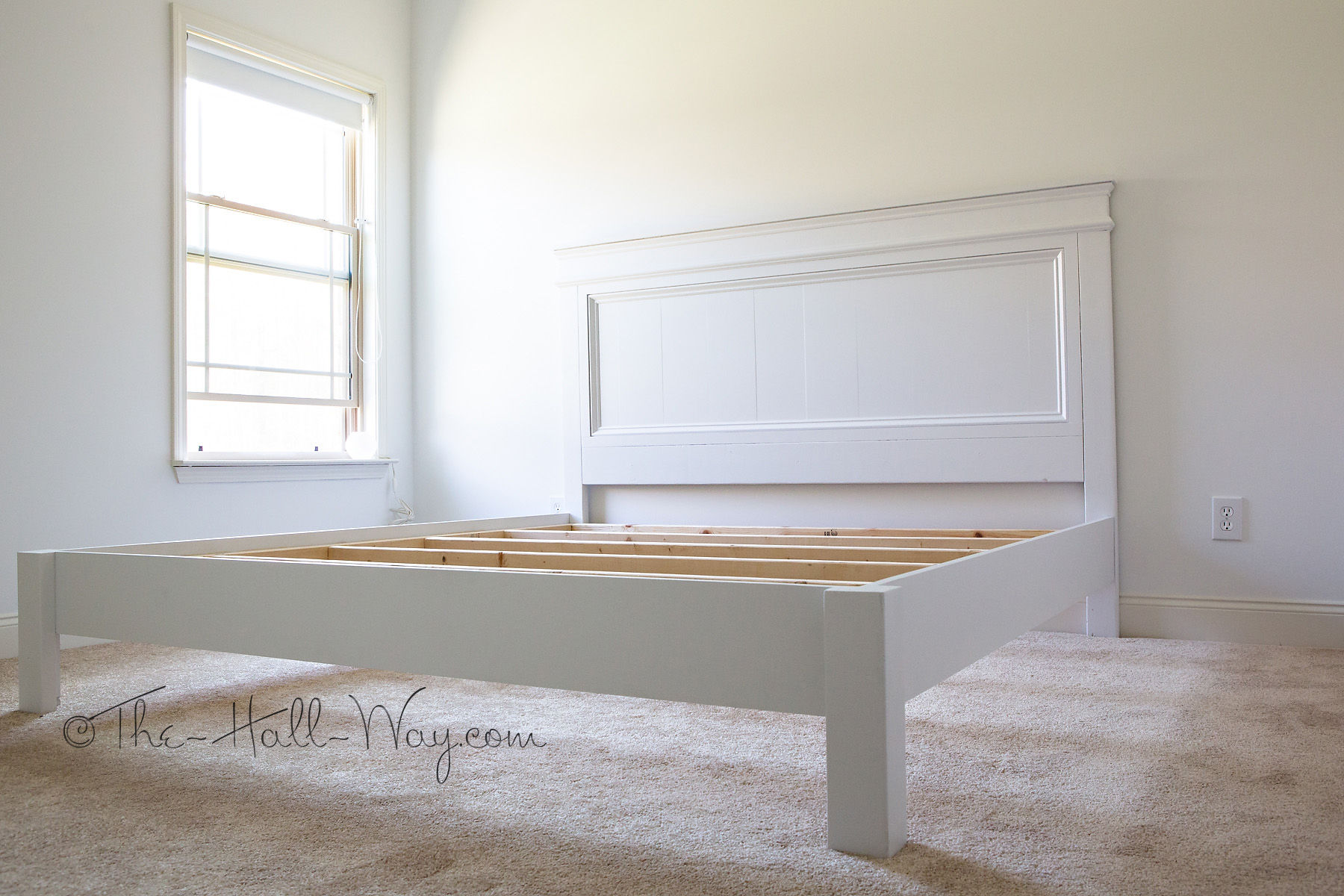 DIY King Size Fancy Farmhouse Bed