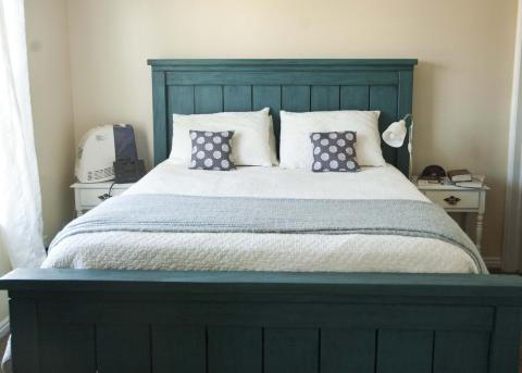 DIY California King Size Farmhouse Bed