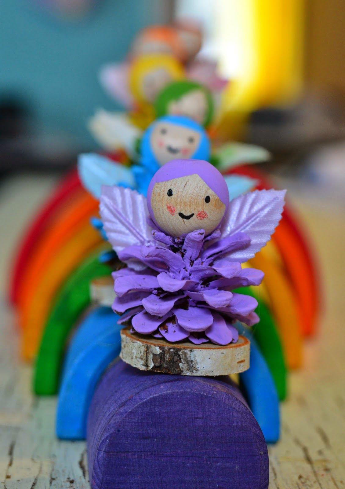 Pinecone Rainbow Fairies