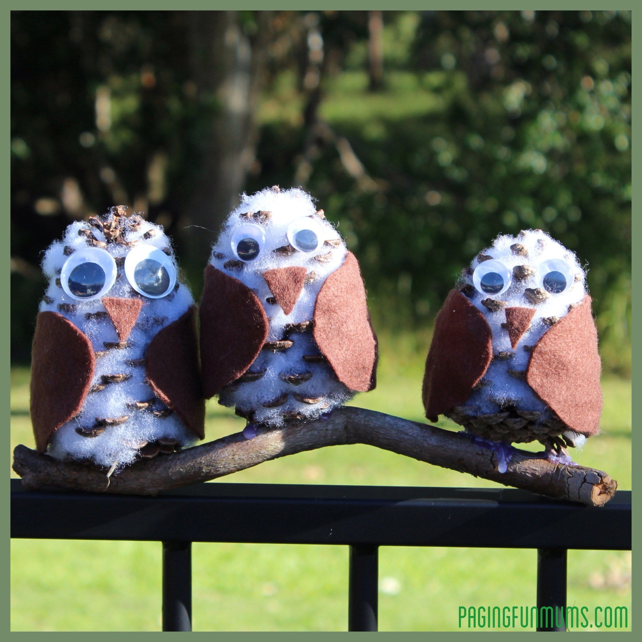 Whootastic Pinecone Owls