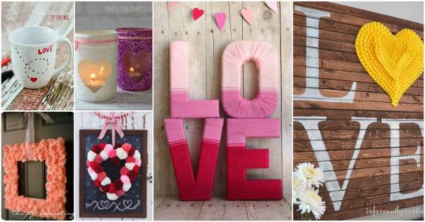 40 Diy Home Decor Ideas: 40+ Creative DIY Home Decorating Projects For Valentine's