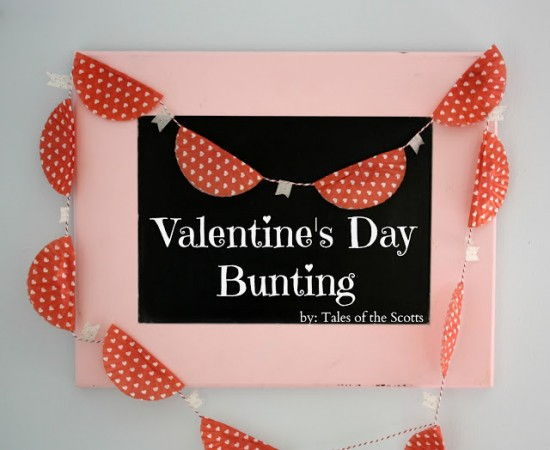 DIY Valentines Day Bunting