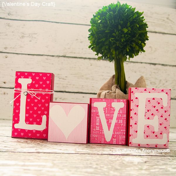 Easy DIY Love Blocks