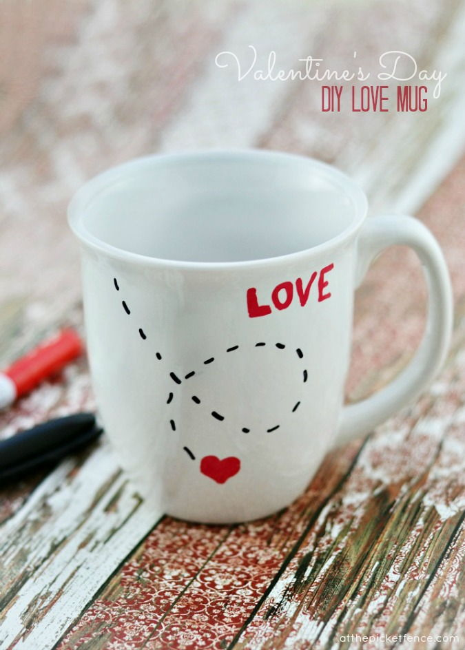 DIY Love Mug for Valentine's Day