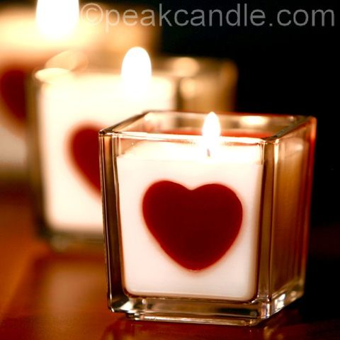 DIY Heart Embed Candles