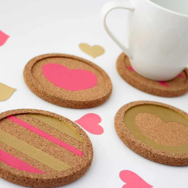 Easy DIY Valentine's Coasters
