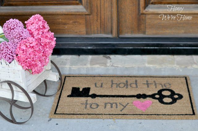 DIY Key to My Heart Door Mat