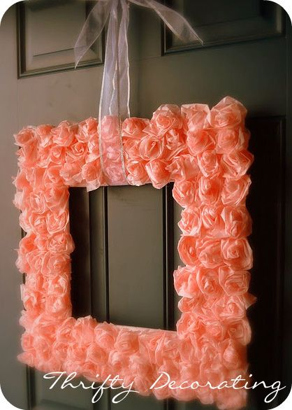 DIY Valentine Rose Wreath